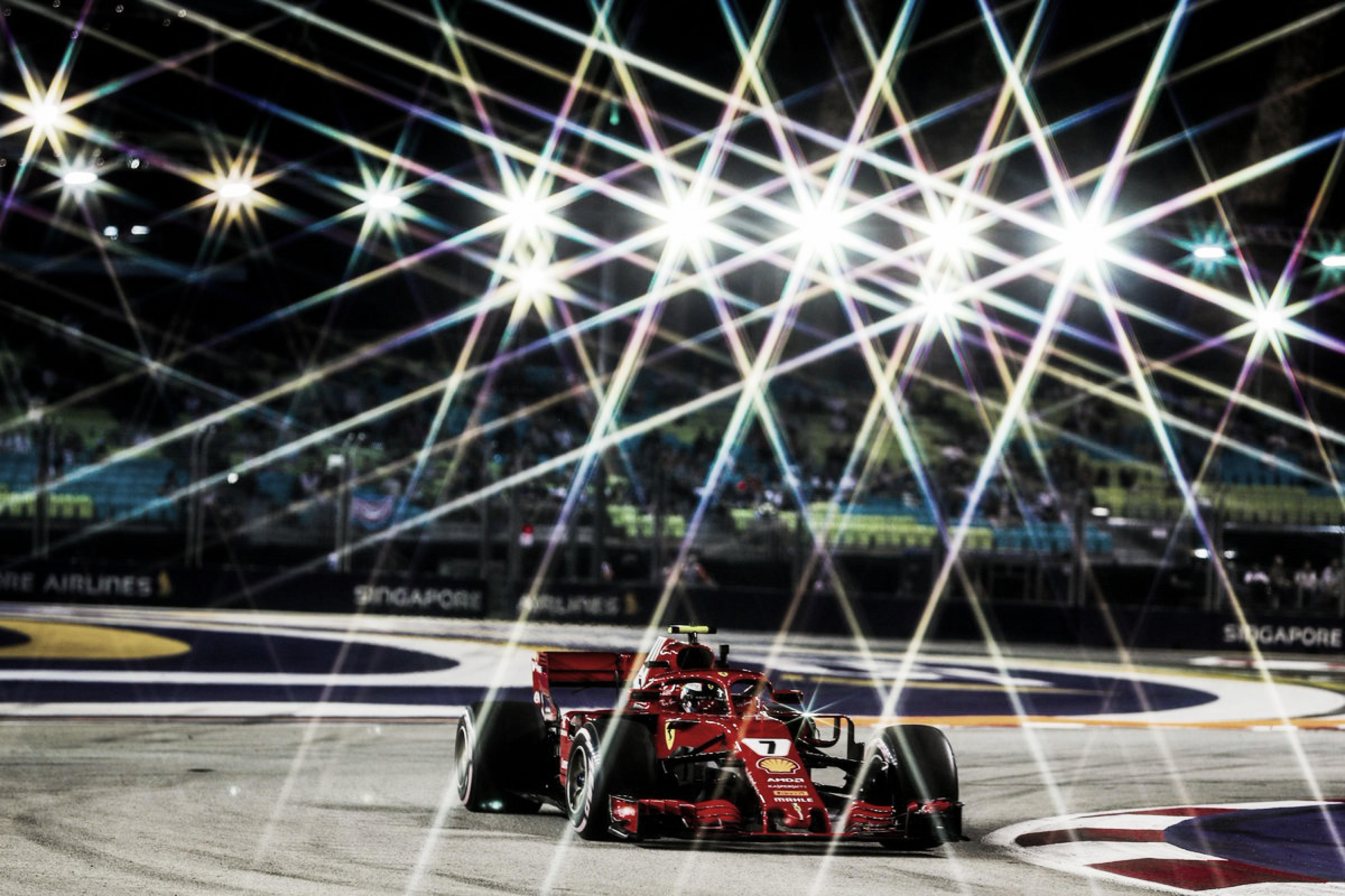 Ricciardo y Raikkonen dominaron Singapur