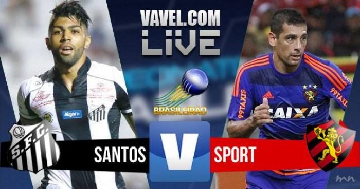 Resultado Santos x Sport no Campeonato Brasileiro (2-0)