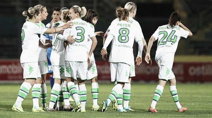 Brescia ACF (0) 0 - 3 (6) VfL Wolfsburg: Wolves reach semi-final for the fourth time in a row