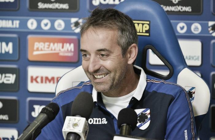 """Sampdoria, Giampaolo: """"Con l'Atalanta una sfida complicata. I nuovi hanno bisogno di tempo"""""""