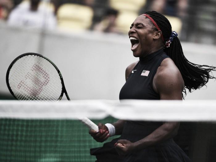 Serena tem jogo distinto em sua estreia no Rio 2016