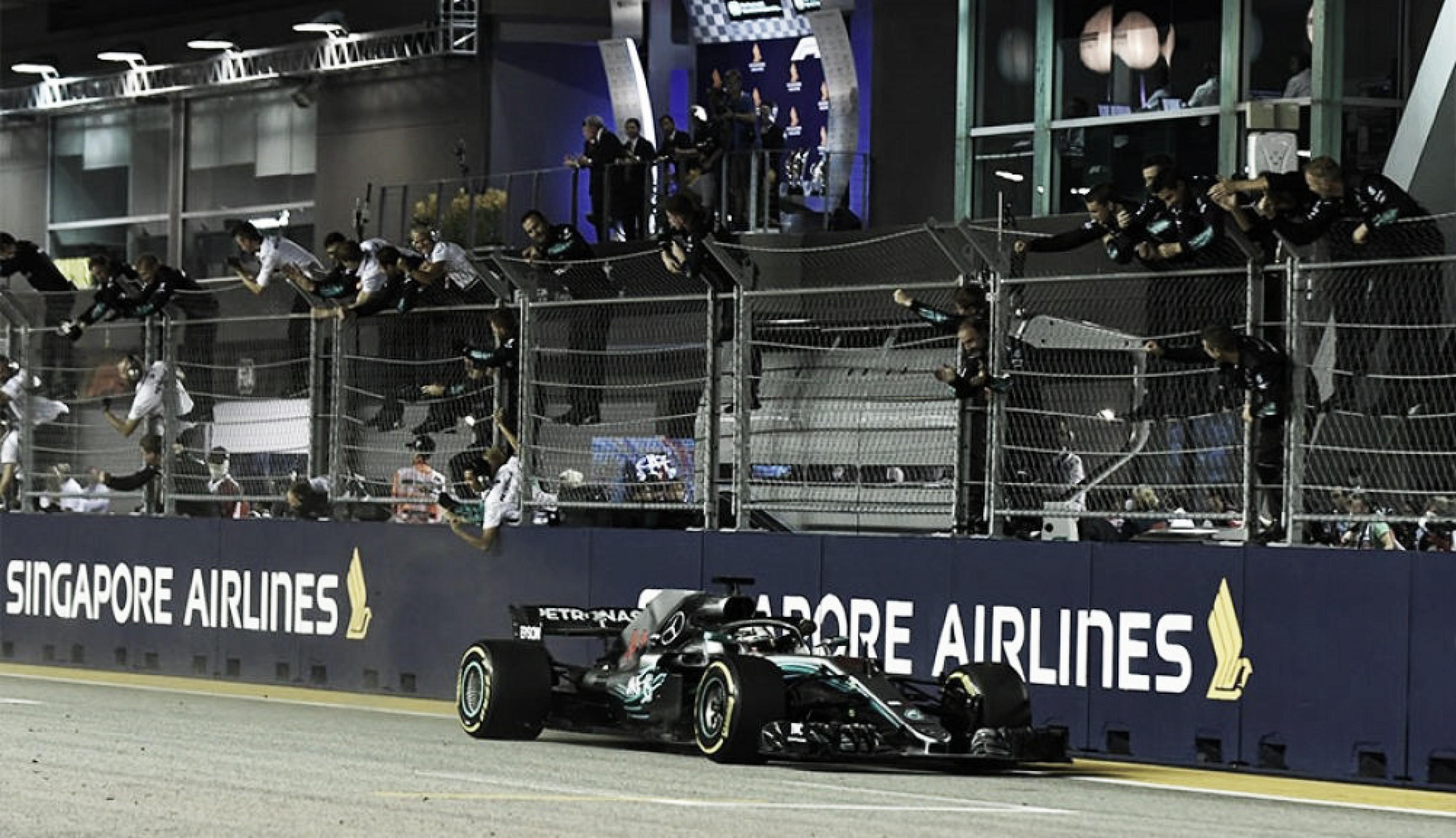 Hamilton vence en Singapur y el campeonato comienza a definirse