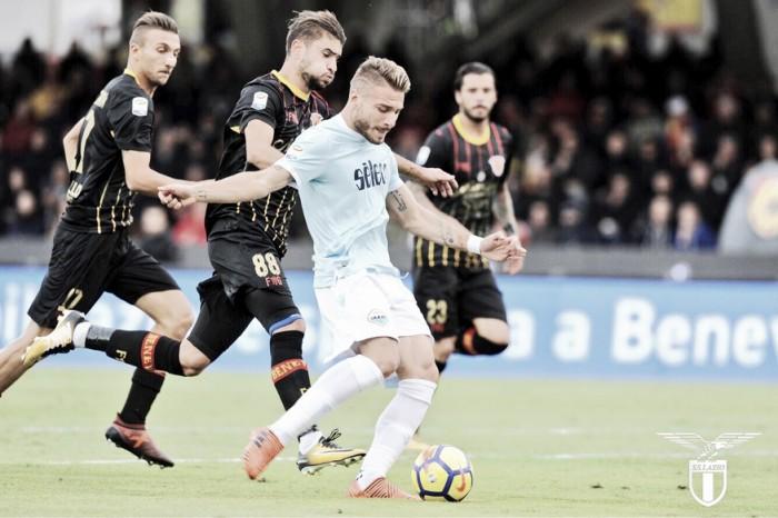 Serie A - Benevento, sveglia! La Lazio si mangia gli Stregoni (1-5)