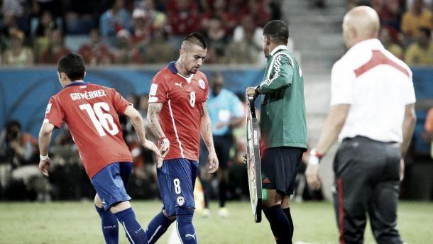 Vidal admite que sentiu raiva por ser substituído na vitória contra Austrália