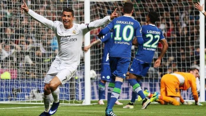 Champions League: un Ronaldo 'Real' elimina il Wolfsburg