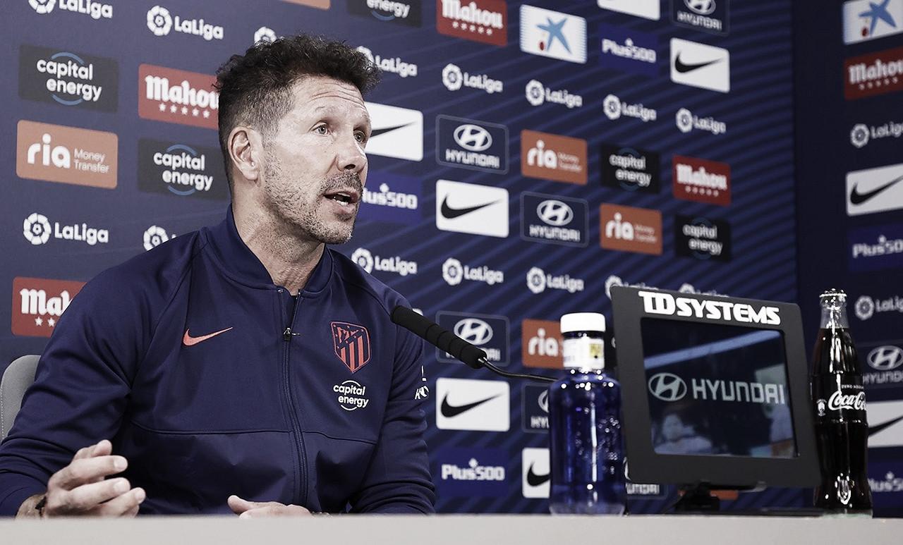 """Simeone: """"Tener jugadores como Griezmann, Suárez o Joao Félix no nos da ventaja"""""""