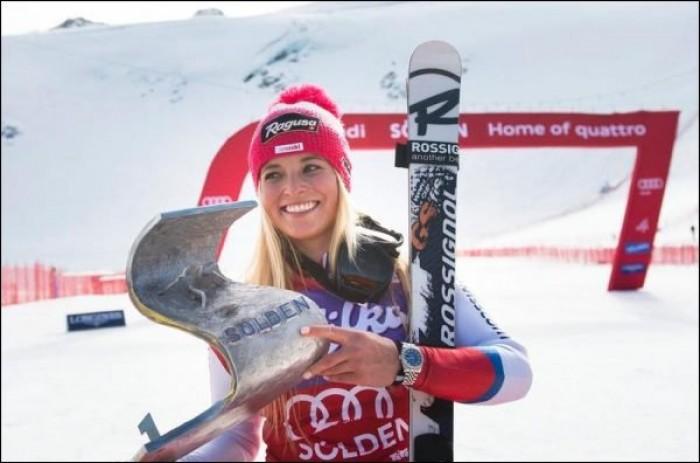 Lara Gut a écrasé le géant d'ouverture de Sölden
