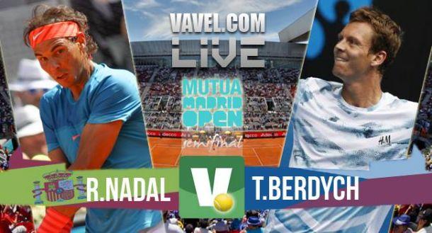 Rafael Nadal x Tomás Berdych, semifinal do Masters 1000 de Madri (2-0)