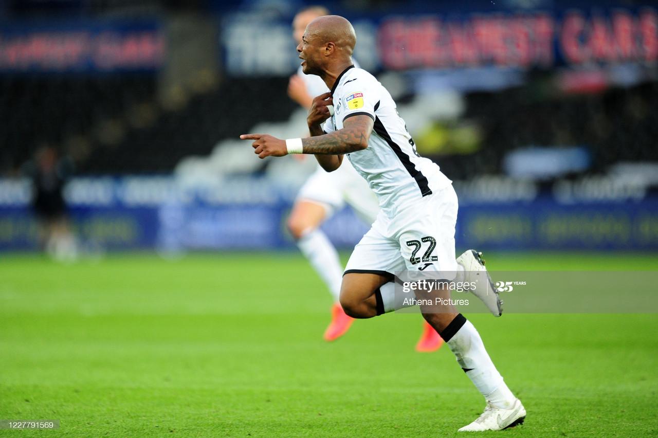 Swansea City 1-0 Brentford: Ayew wonder strike hands Swans slender semi-final advantage