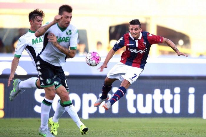 Bologna - Sassuolo in Serie A 2016/17. Il Bologna spreca troppo, Matri la punisce (1-1)