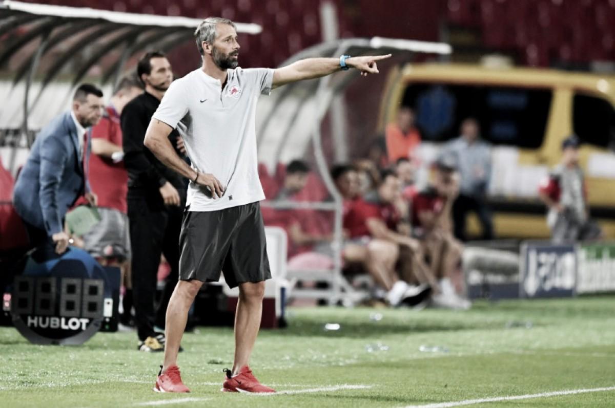 """Marco Rose espera apoio da torcida do Salzburg no jogo da volta: """"Ansioso para uma casa cheia"""""""