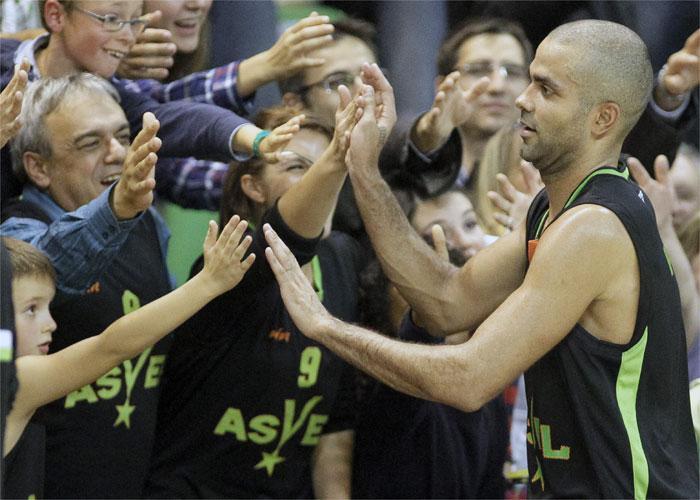 El Valencia Basket sucumbe ante el Asvel de Tony Parker