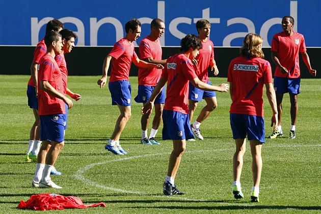 Bajas importantes en el entrenamiento del Atlético