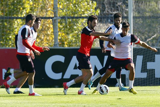 El Atlético de Madrid derrota a su filial en el entrenamiento