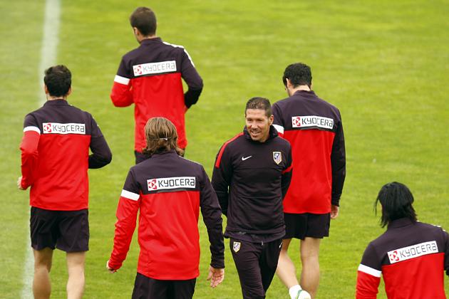 El Atlético de Madrid comenzó a preparar el partido frente a la Real Sociedad