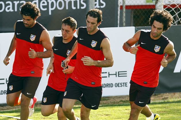 El Atlético de Madrid vuelve al trabajo con la reincorporación de Diego Costa