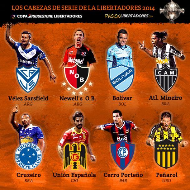 Definidos os cabeças de chave da Copa Libertadores 2014