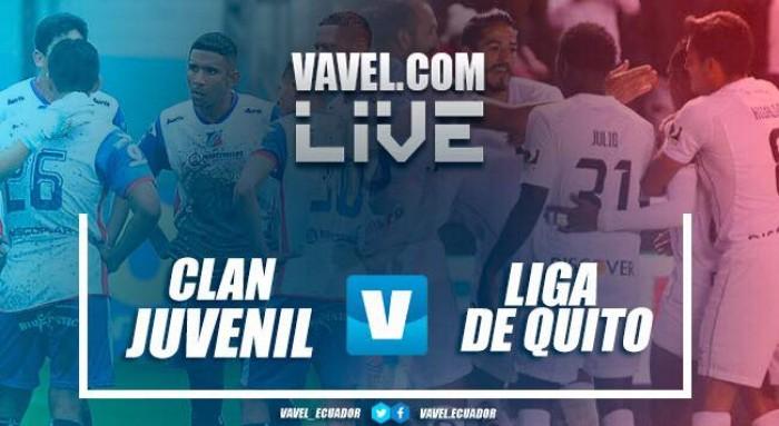 Clan Juvenil no pudo ganar de local y empató sin golescon Liga de Quito (0-0)