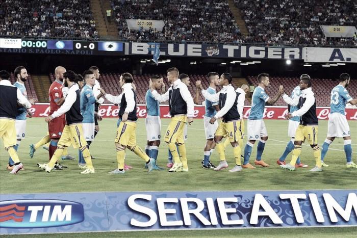 Sampdoria - Nápoles Serie A (2-4): líderes una jornada más