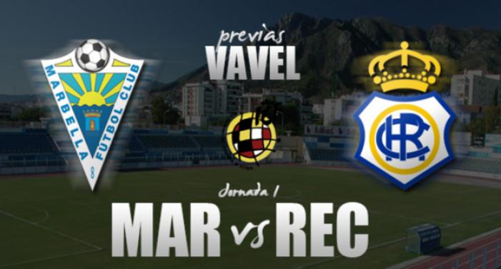 Marbella FC - Recreativo de Huelva: a contrarreloj en el debut