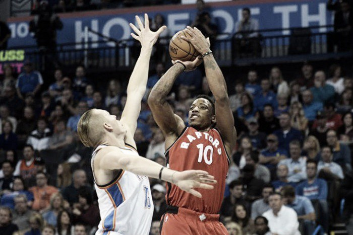 DeMar DeRozan catapults Toronto Raptors over Oklahoma City Thunder, 112-102