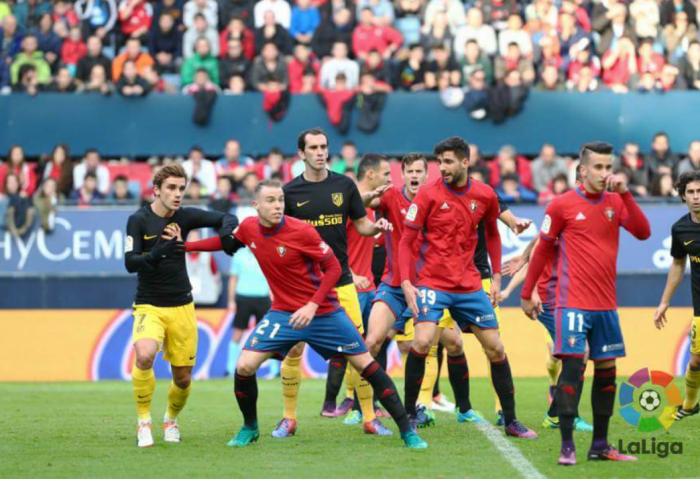 L'Atletico Madrid risorge a Pamplona, battuto 0-3 l'Osasuna
