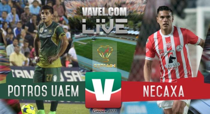 Resultado y goles del Potros UAEM 1-2 Necaxa de la Copa MX 2017