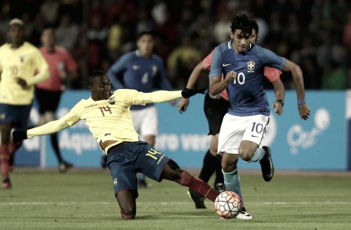 Felipe Vizeu marca e Brasil estreia com vitória diante do Equador pelo Sul-americano Sub-20