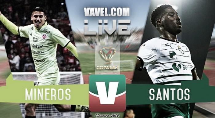Resultado y goles del Mineros (0-1) Santos