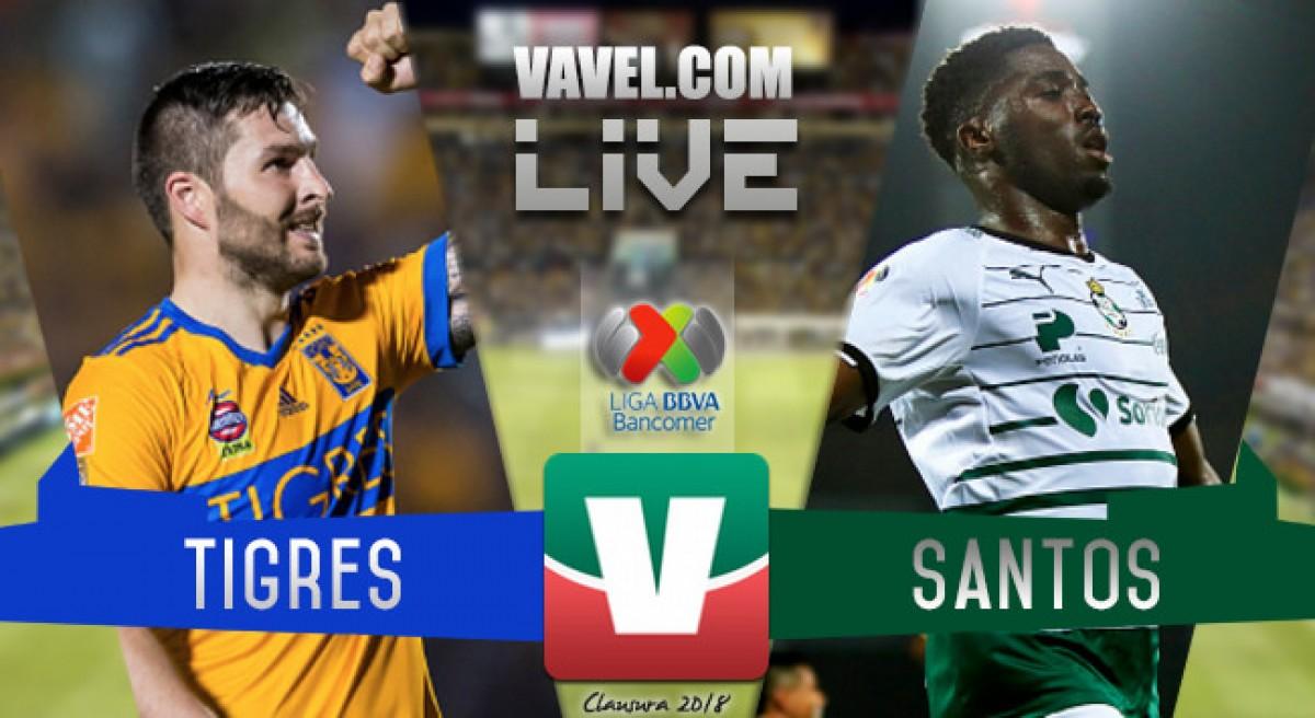 Resultado y goles del Tigres (2-0) Santos en Cuartos de Final Ida