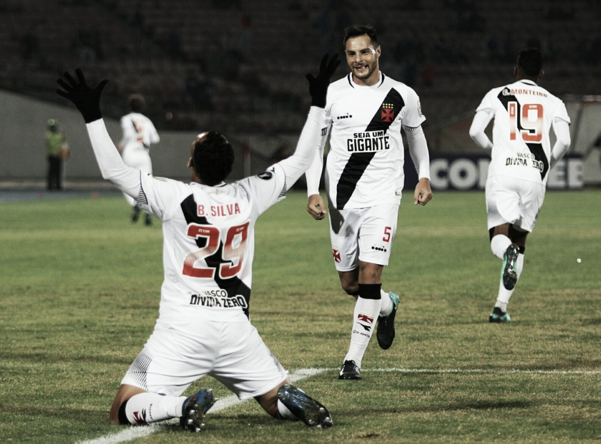 Bruno Silva comemora primeiro gol pelo Vasco e mira vitória contra o Bahia