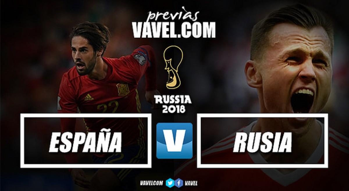 Previa España vs Rusia: dura prueba al anfitrión