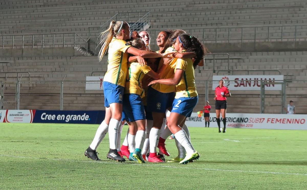 Seleção Feminina Sub-17 vence clássico contra a Argentina e segue invicta no Sul-Americano