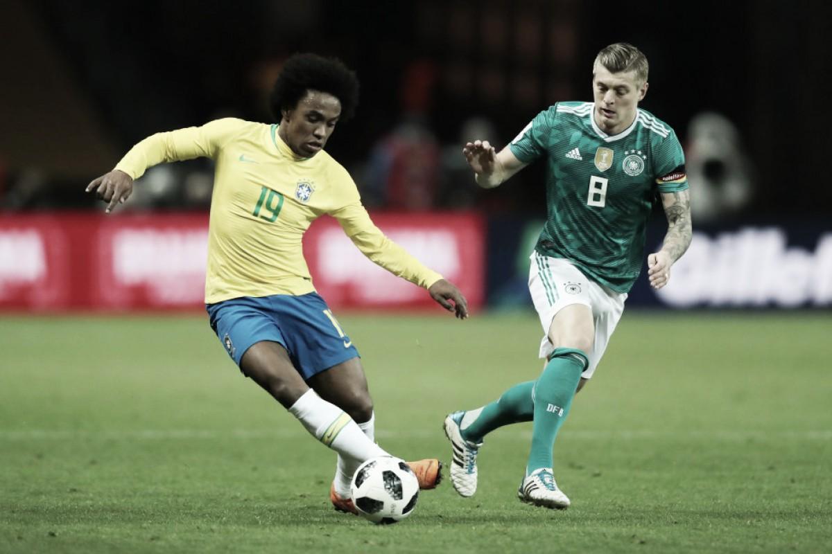 Controle da bola, vacilos e 'jogo estranho': jogadores alemães repercutem revés diante do Brasil