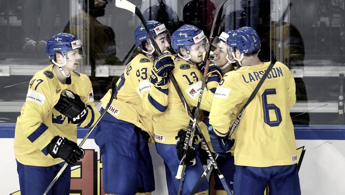 Suiza sorprende a Canadá y Suecia sonrroja a USA en los mundiales IIHF