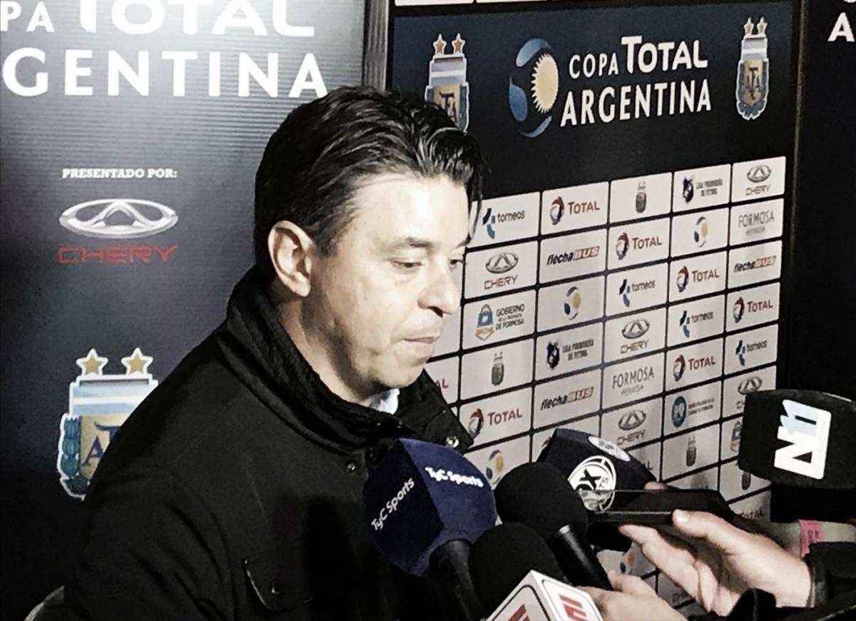 """Gallardo: """"Vamos a llegar bien al partido con Racing"""""""