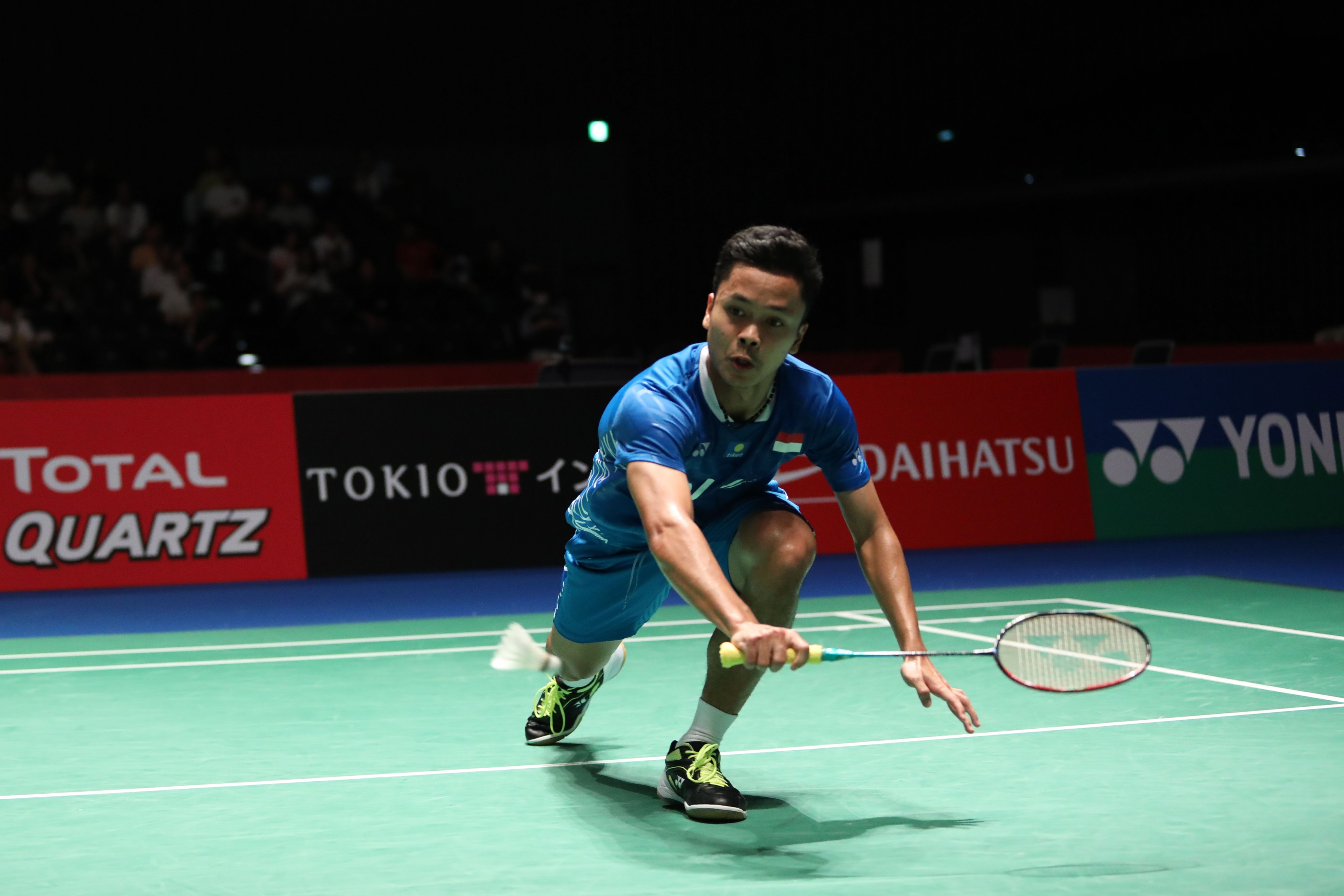 Kunci Anthony Ginting Tumbangkan Lin Dan di China Open 2018