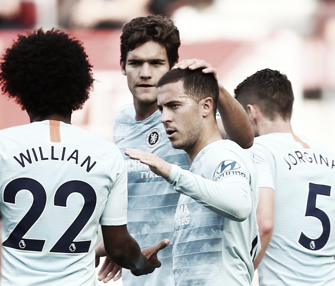 Chelsea faz boa apresentação fora de casa, vence Southampton e encosta nos líderes