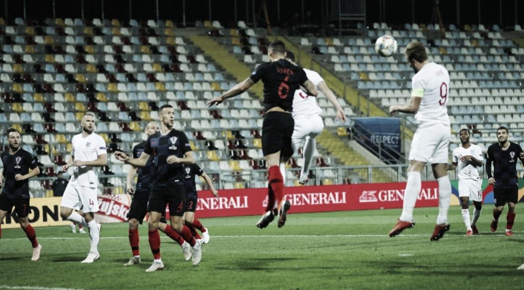 Croácia e Inglaterra ficam no empate e seguem sem pontos no grupo 4 pela Liga das Nações