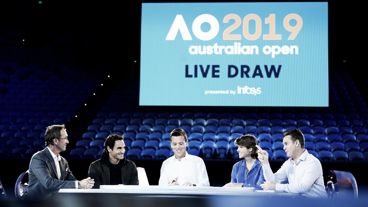 Sorteio define chave masculina do Australian Open; Kyrgios x Raonic e Bautista x Murray são destaques