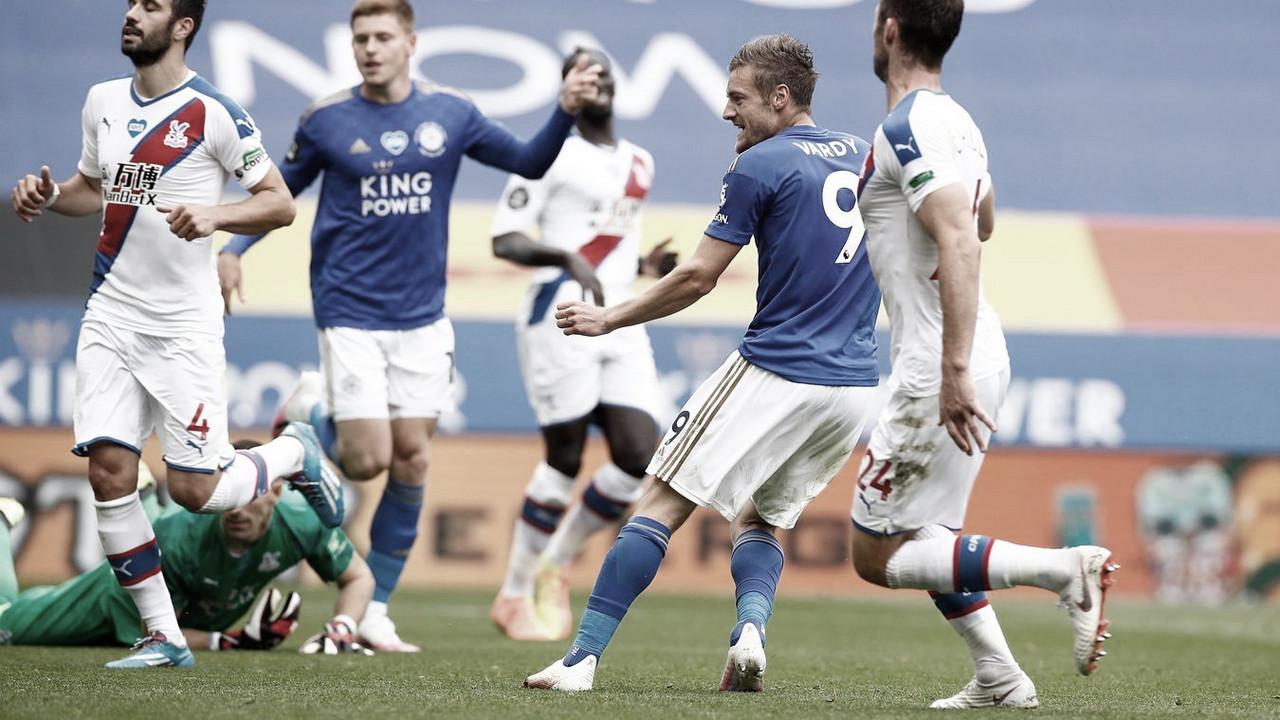 Vardy chega ao gol 100 na Premier League e garante vitória do Leicester sobre Crystal Palace