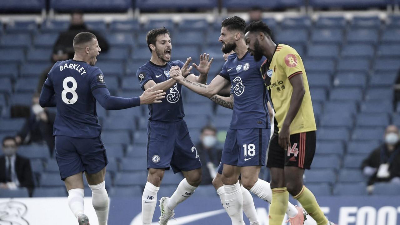 El Chelsea vence al Watford y se mantiene en puestos Champions
