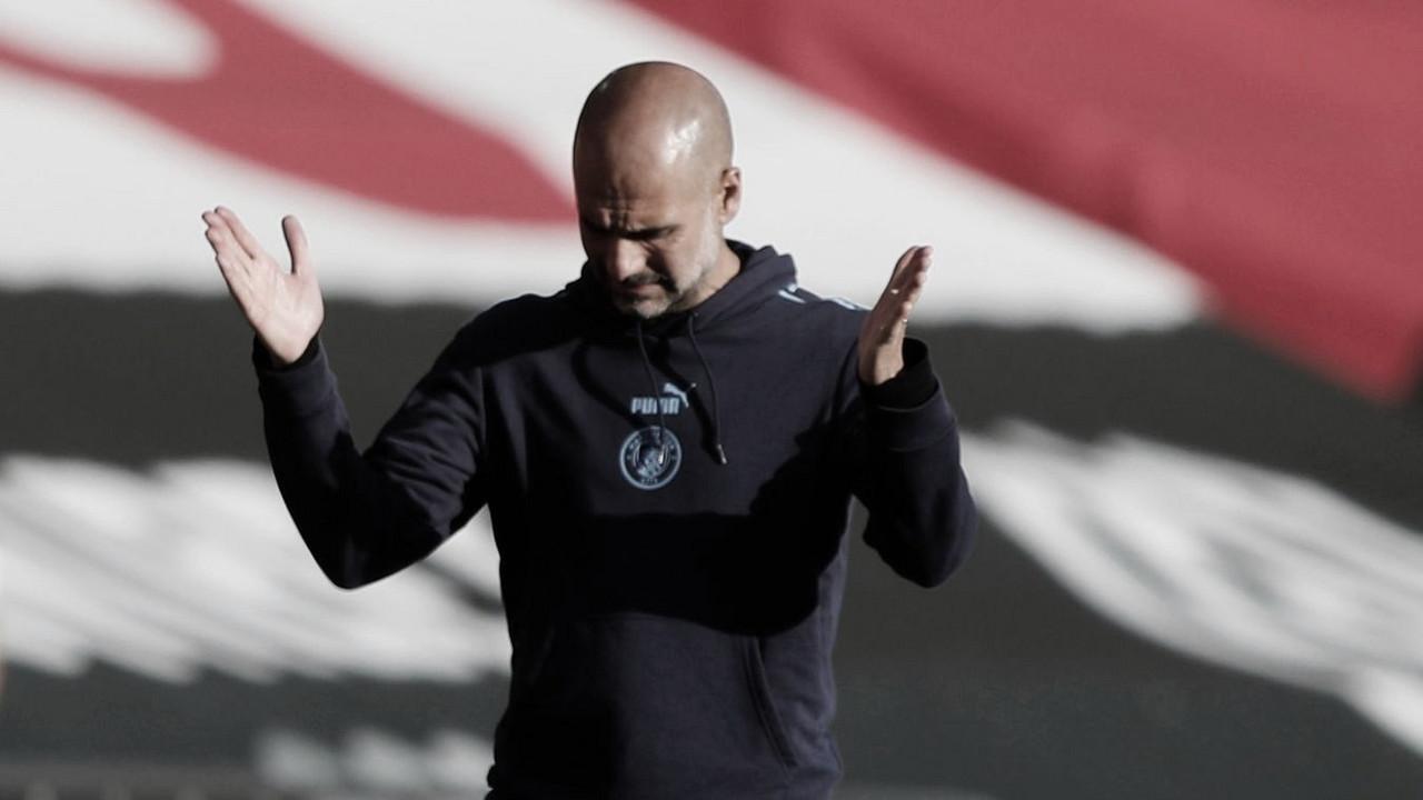 """Guardiola lamenta chances perdidas pelo City em derrota para Southampton: """"Resumo desta temporada"""""""