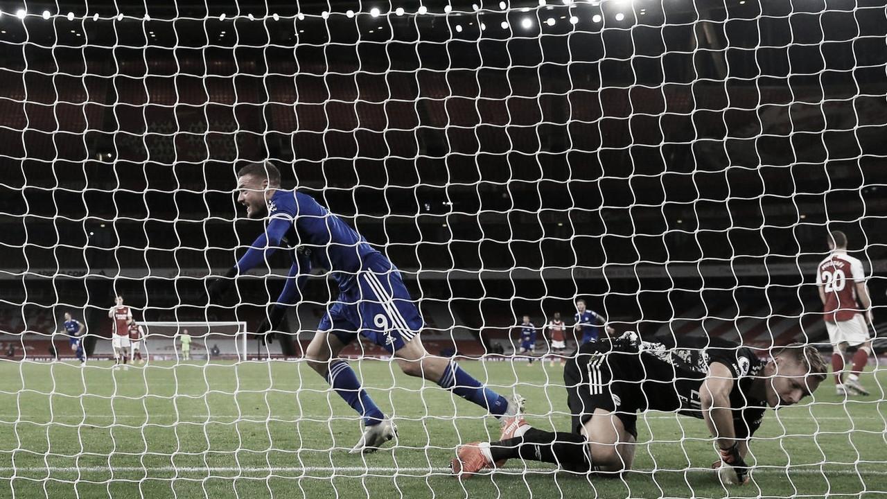 Jamie Vardy marcó el gol de la victoria del Leicester. Vía: Premier League