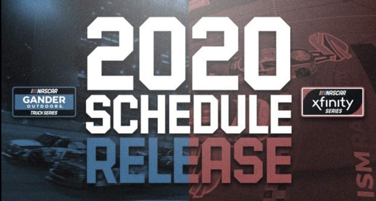 Revelados los calendarios 2020 de NASCAR
