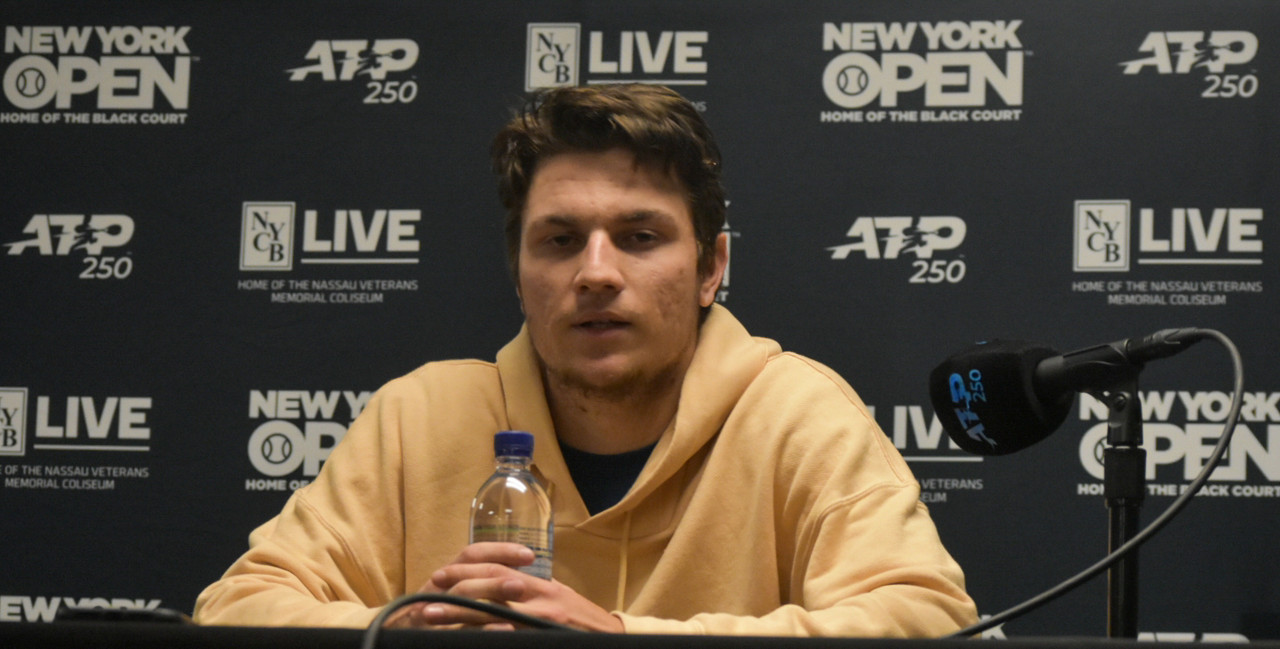 """ATP New York Open: Miomir Kecmanovic """"just wanted to play smart"""" in first round win over Tommy Paul"""
