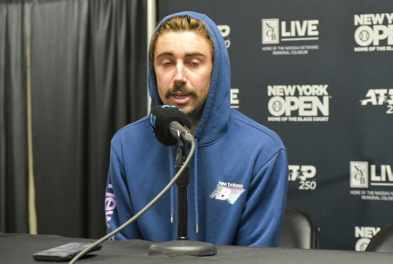 """ATP New York Open: Jordan Thompson """"managed to get out of trouble"""" from the baseline in victory over John Isner"""