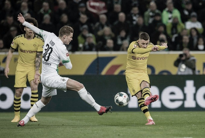 Em jogo de oito amarelos, Dortmund supera M'gladbach e assume segunda colocação