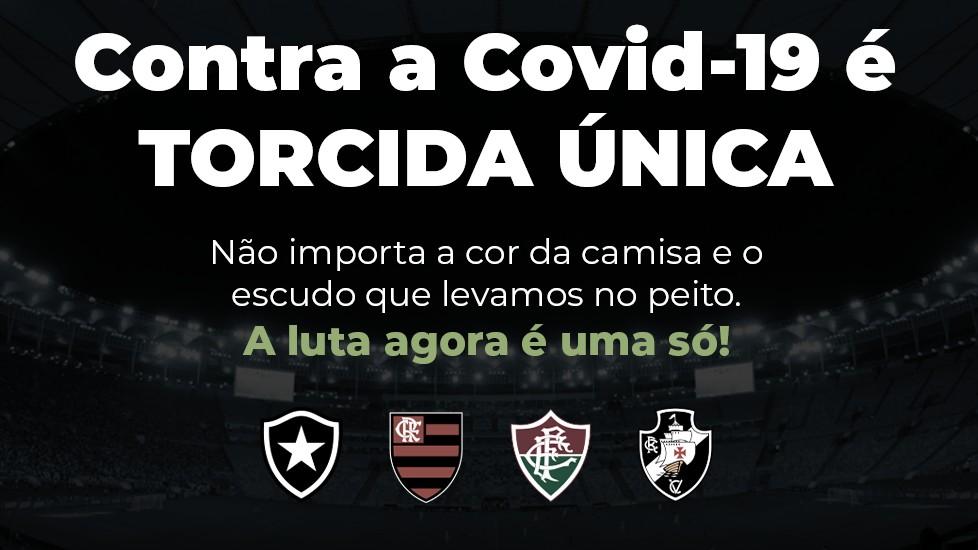 Clubes do Rio se unem em campanha contra Covid-19