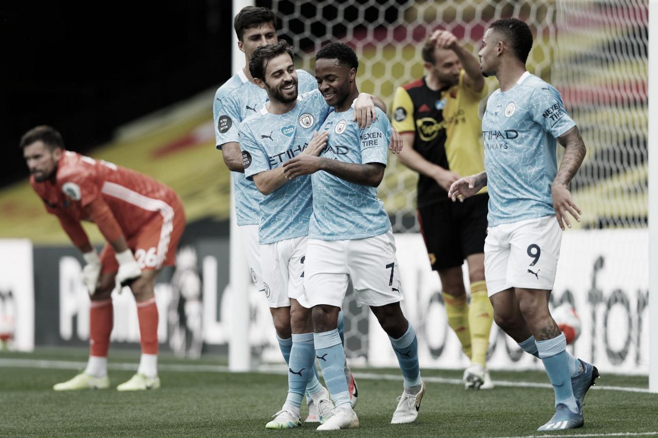 Manchester City atropela e complica Watford na luta contra rebaixamento